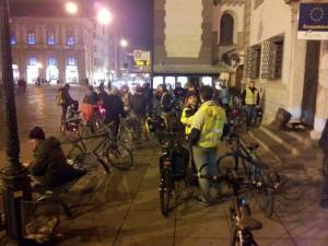 Critical Mass Augsburg im Oktober 2015